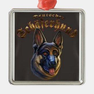 pastor alemão ornamento cão