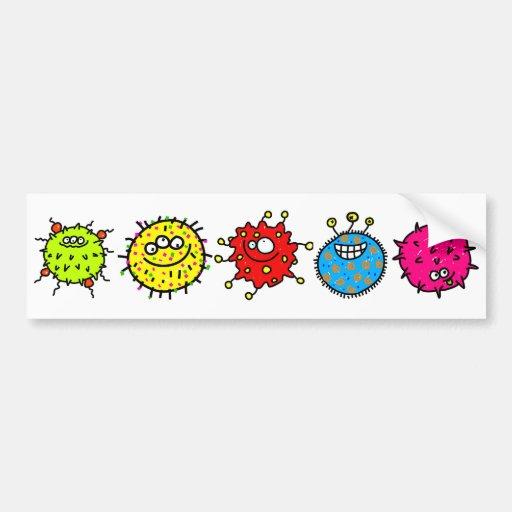 Germes coloridos dos desenhos animados adesivos