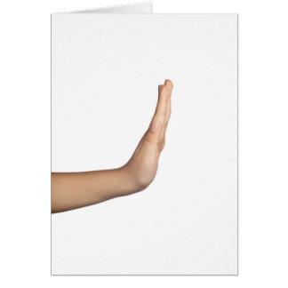 Gesto de mão - parada cartão comemorativo