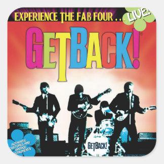 GetBack! Etiquetas quadradas do ®, lustrosas