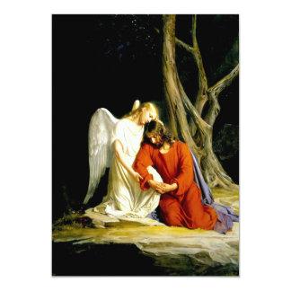 Gethsemane. Cartões customizáveis das belas artes Convite 12.7 X 17.78cm