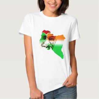 ghandi-em-india-e-Paquistão-beira Camiseta