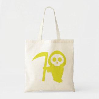 Ghostface amarelo com sacola do Scythe Bolsa Para Compra