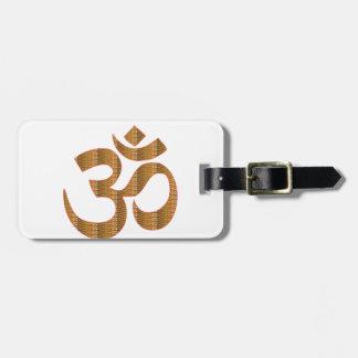 GIF da hinduísmo do canto da meditação da ioga de Etiqueta De Bagagem