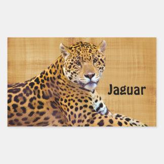 #Gift grande manchado do Gato-amante de Jaguar Adesivo Retangular