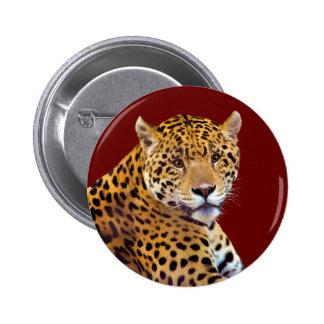 #Gift grande manchado do Gato-amante de Jaguar Bóton Redondo 5.08cm