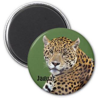 #Gift grande manchado do Gato-amante de Jaguar Ímã Redondo 5.08cm