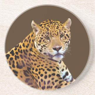 #Gift grande manchado do Gato-amante de Jaguar Porta Copos De Arenito