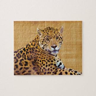 #Gift grande manchado do Gato-amante de Jaguar Quebra-cabeças De Fotos