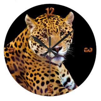 #Gift grande manchado do Gato-amante de Jaguar Relógios Para Paredes