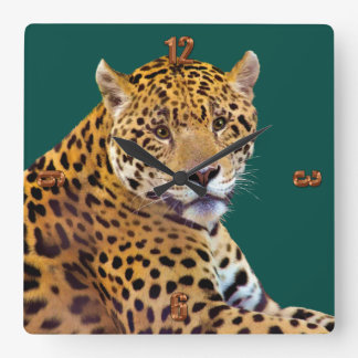 #Gift grande manchado do Gato-amante de Jaguar Relógios Para Pendurar