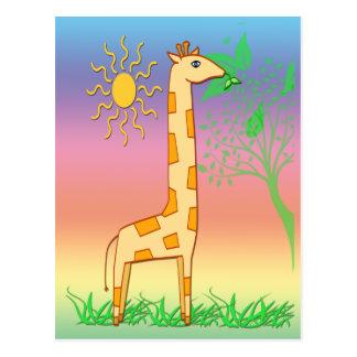 Gigi o cartão do girafa