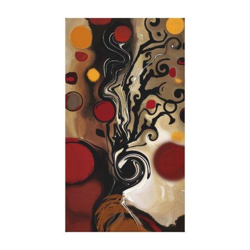 Gilbert a árvore - abstrato impressão em tela