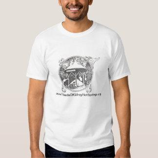 Gilroy Hot Springs - poço de mineral do vintage do Tshirt