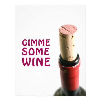 Gimme algum vinho modelos de panfleto