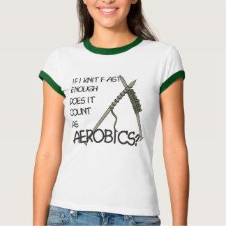 Ginástica aeróbica de confecção de malhas t-shirts
