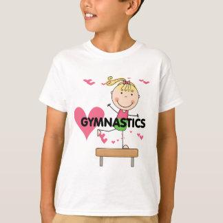 GINÁSTICA - camiseta louro do feixe de equilíbrio