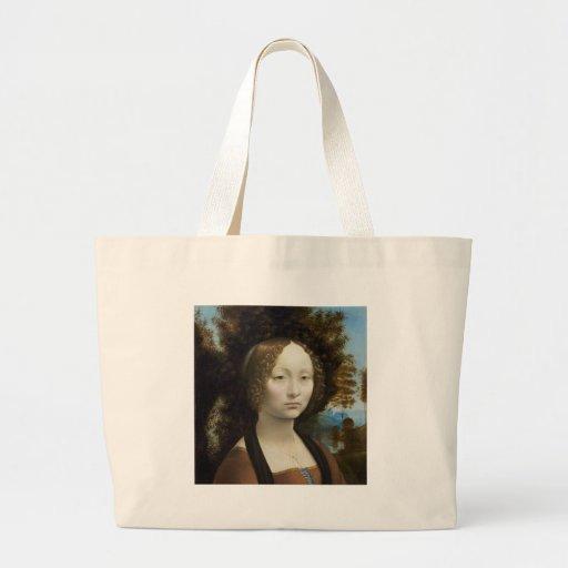 Ginevra de Benci por Leonardo da Vinci Bolsa Para Compras