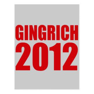 GINGRICH 2012 CARTÕES POSTAIS
