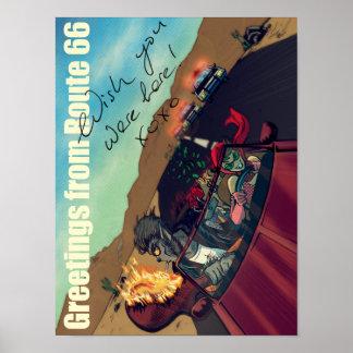 Ginny & embreagem (cumprimentos da rota 66) poster