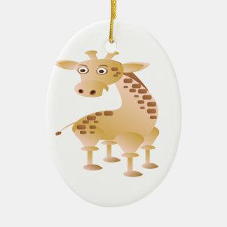 Girafa, animal bonito ornamento de cerâmica