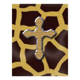 Girafa animal transversal Patern do impressão Modelo De Papel De Carta