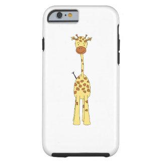 Girafa bonito alto. Animal dos desenhos animados Capa Tough Para iPhone 6