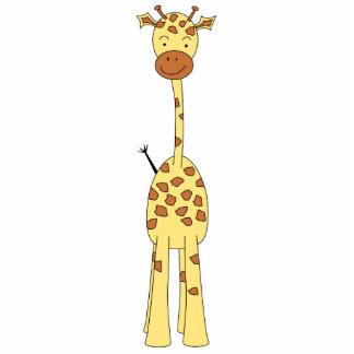 Girafa bonito alto. Animal dos desenhos animados Escultura De Fotos
