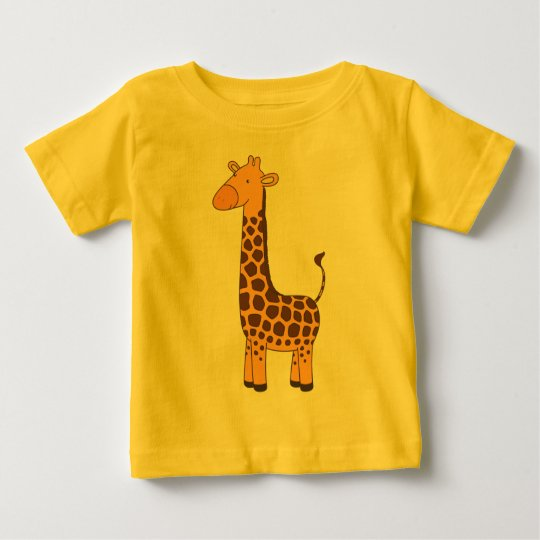 Girafa bonito camiseta para bebê
