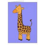 Girafa bonito cartão