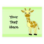 Girafa bonito cartão postal
