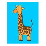 Girafa bonito cartao postal