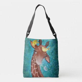 Girafa bonito com pintura dos pássaros bolsa ajustável