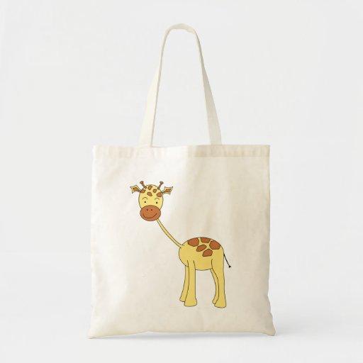 Girafa bonito. Desenhos animados Bolsas De Lona