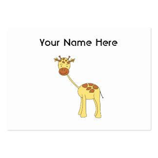 Girafa bonito Desenhos animados Cartoes De Visitas
