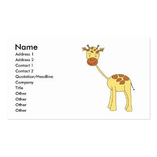 Girafa bonito. Desenhos animados Cartão De Visita