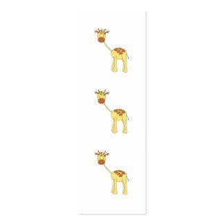 Girafa bonito. Desenhos animados Cartão De Visita Skinny