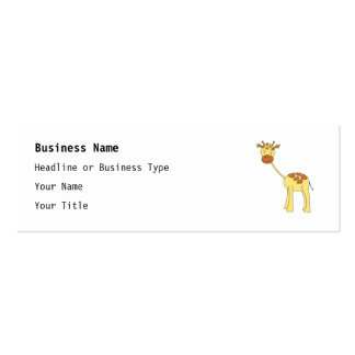 Girafa bonito Desenhos animados Modelo De Cartões De Visita
