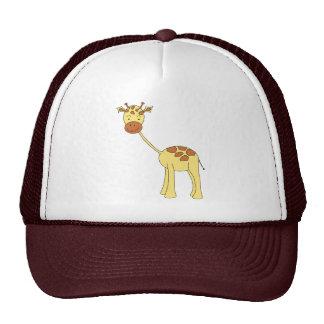 Girafa bonito. Desenhos animados Boné