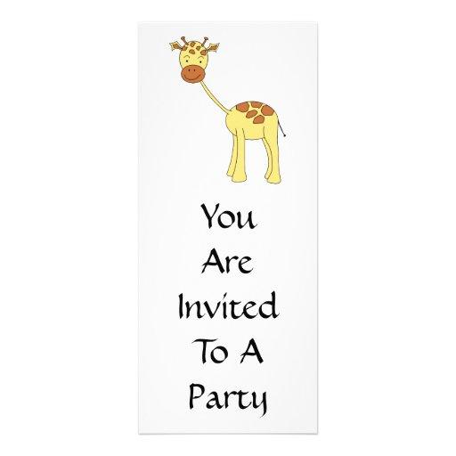 Girafa bonito. Desenhos animados Convite Personalizados