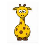 Girafa bonito dos desenhos animados cartao postal