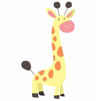 Girafa bonito dos desenhos animados escultura de foto