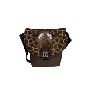 Girafa bonito dos desenhos animados & impressão do bolsas mensageiro