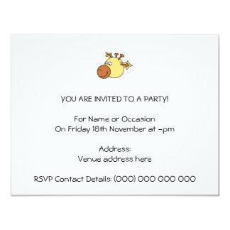 Girafa bonito feliz. Animal dos desenhos animados Convite 10.79 X 13.97cm