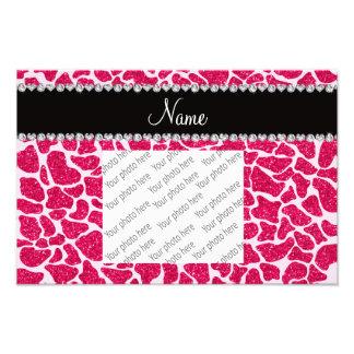 Girafa cor-de-rosa conhecido feito sob encomenda d impressão de foto