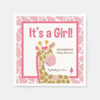 Girafa cor-de-rosa é guardanapo de um costume da