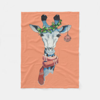 Girafa da neve cobertor de lã