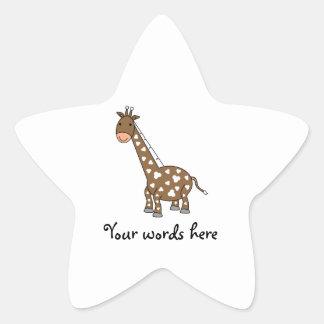 Girafa de Brown Adesivos Estrelas