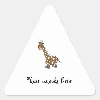 Girafa de Brown Adesivo Em Forma De Triângulo