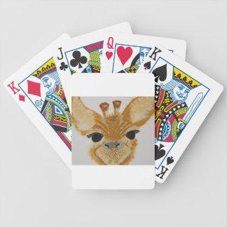 Girafa de travamento do design do olho moderno na jogos de baralhos